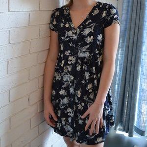 Sadie Robertson | Wild Blue Floral Shirt Dress